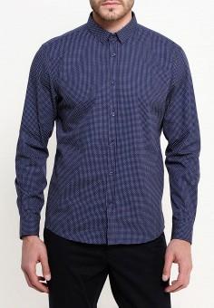 Рубашка, oodji, цвет: синий. Артикул: OO001EMRKT58. Одежда / Рубашки / Рубашки с длинным рукавом
