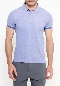 Поло, oodji, цвет: голубой. Артикул: OO001EMRRH11. Одежда