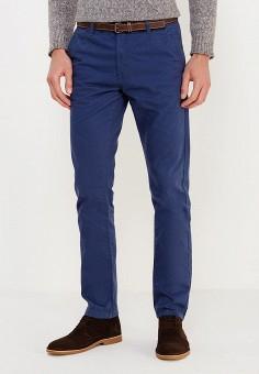 Брюки, oodji, цвет: синий. Артикул: OO001EMVHW35. Одежда / Брюки / Повседневные брюки
