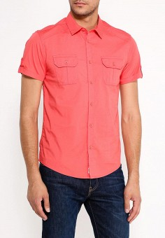 Рубашка, oodji, цвет: коралловый. Артикул: OO001EMWBW32. Одежда / Рубашки