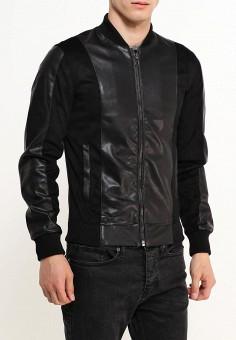 Куртка кожаная, oodji, цвет: черный. Артикул: OO001EMWJH40. Одежда / Верхняя одежда / Кожаные куртки