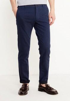 Брюки, oodji, цвет: синий. Артикул: OO001EMXJM45. Одежда / Брюки / Повседневные брюки