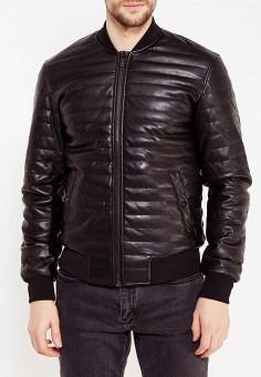 Куртка кожаная, oodji, цвет: черный. Артикул: OO001EMXOW63. Одежда / Верхняя одежда / Кожаные куртки