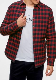 Рубашка, oodji, цвет: бордовый. Артикул: OO001EMZQD78.