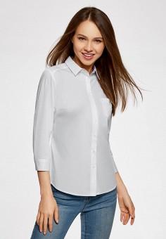 Блуза, oodji, цвет: белый. Артикул: OO001EWAFQG4. Одежда / Блузы и рубашки / Блузы