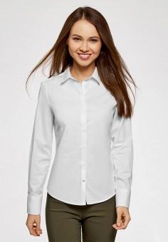 Рубашка, oodji, цвет: белый. Артикул: OO001EWARUU0. Одежда / Блузы и рубашки / Рубашки