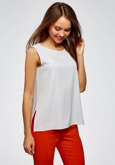 Топ, oodji, цвет: белый. Артикул: OO001EWCSFX9. Одежда / Топы и майки