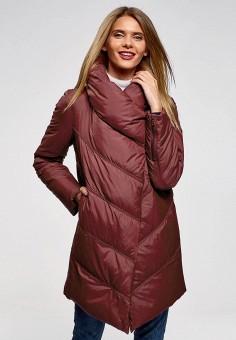Куртка утепленная, oodji, цвет: бордовый. Артикул: OO001EWCZBW2. Одежда / Верхняя одежда / Демисезонные куртки