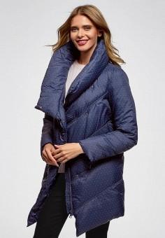 Куртка утепленная, oodji, цвет: синий. Артикул: OO001EWCZBW3. Одежда / Верхняя одежда / Демисезонные куртки