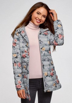 Куртка утепленная, oodji, цвет: серый. Артикул: OO001EWDCAK1. Одежда / Верхняя одежда / Демисезонные куртки