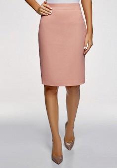 Юбка, oodji, цвет: розовый. Артикул: OO001EWDDMR1. Одежда
