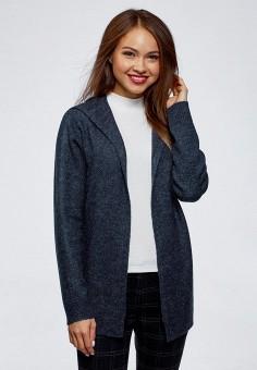 Кардиган, oodji, цвет: синий. Артикул: OO001EWDGVT9. Одежда / Джемперы, свитеры и кардиганы / Кардиганы