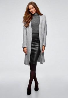 Кардиган, oodji, цвет: серый. Артикул: OO001EWDHRA4. Одежда / Джемперы, свитеры и кардиганы / Кардиганы