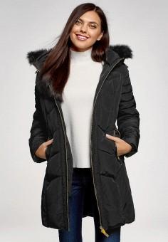 Куртка утепленная, oodji, цвет: черный. Артикул: OO001EWDOAA0. Одежда / Верхняя одежда / Демисезонные куртки