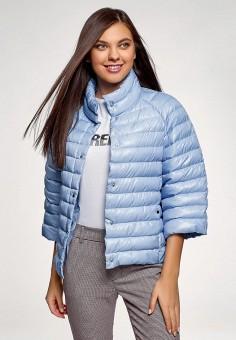 Куртка, oodji, цвет: голубой. Артикул: OO001EWELWJ2.