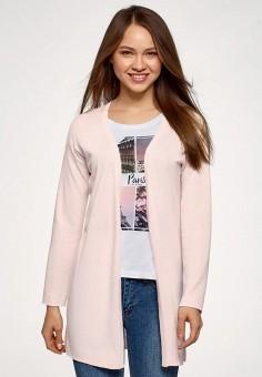 Кардиган, oodji, цвет: розовый. Артикул: OO001EWELXG5.
