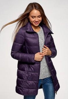 Куртка утепленная, oodji, цвет: фиолетовый. Артикул: OO001EWEOAW6. Одежда / Верхняя одежда / Демисезонные куртки