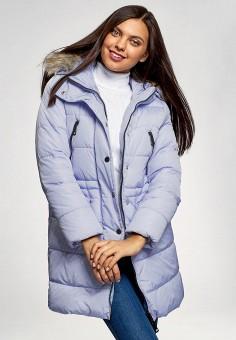 Куртка утепленная, oodji, цвет: голубой. Артикул: OO001EWFWYY1. Одежда / Верхняя одежда / Демисезонные куртки