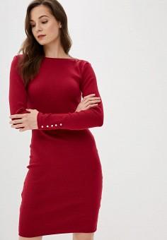 Платье, oodji, цвет: бордовый. Артикул: OO001EWFWYZ6. Одежда / Платья и сарафаны