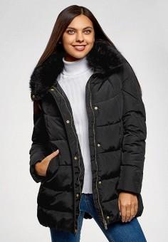 Куртка утепленная, oodji, цвет: черный. Артикул: OO001EWGEIW5. Одежда / Верхняя одежда / Демисезонные куртки