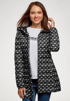 Куртка утепленная, oodji, цвет: черный. Артикул: OO001EWGMFW2. Одежда / Верхняя одежда / Демисезонные куртки
