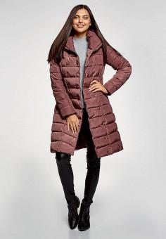 Куртка утепленная, oodji, цвет: бордовый. Артикул: OO001EWGMUM1. Одежда / Верхняя одежда / Демисезонные куртки