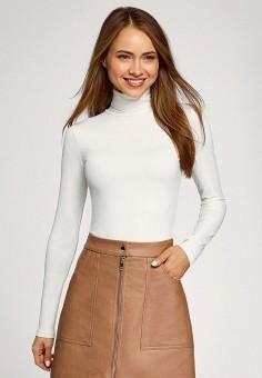 Водолазка, oodji, цвет: белый. Артикул: OO001EWGWFC9. Одежда / Джемперы, свитеры и кардиганы / Водолазки