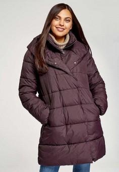 Куртка утепленная, oodji, цвет: фиолетовый. Артикул: OO001EWGYKK1. Одежда / Верхняя одежда / Демисезонные куртки