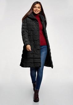 Куртка утепленная, oodji, цвет: черный. Артикул: OO001EWHDBO1.