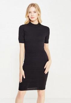 Платье, oodji, цвет: черный. Артикул: OO001EWNLW29.