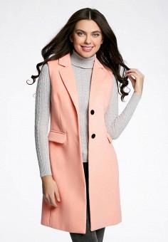 Жилет, oodji, цвет: розовый. Артикул: OO001EWQQJ70. Одежда / Верхняя одежда / Жилеты