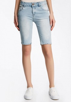 Шорты джинсовые, oodji, цвет: голубой. Артикул: OO001EWQWU41.