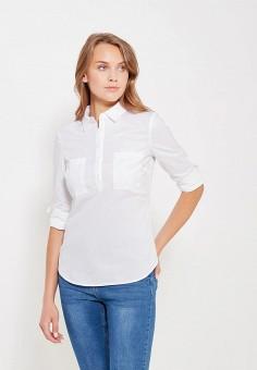 Рубашка, oodji, цвет: белый. Артикул: OO001EWRPG69. Одежда / Блузы и рубашки