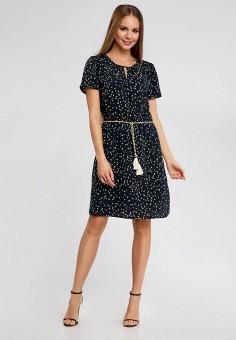 Платье, oodji, цвет: черный. Артикул: OO001EWSRB90. Одежда / Платья и сарафаны