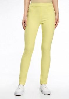 Леггинсы, oodji, цвет: желтый. Артикул: OO001EWTMF07. Одежда / Брюки / Леггинсы