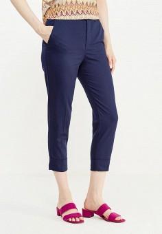 Брюки, oodji, цвет: синий. Артикул: OO001EWUPF77. Одежда / Брюки / Классические брюки