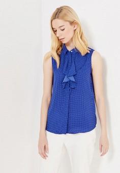 Блуза, oodji, цвет: синий. Артикул: OO001EWVHX01. Одежда / Блузы и рубашки