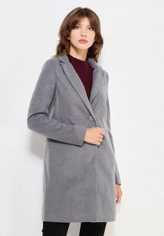 Пальто, oodji, цвет: серый. Артикул: OO001EWWJH41.