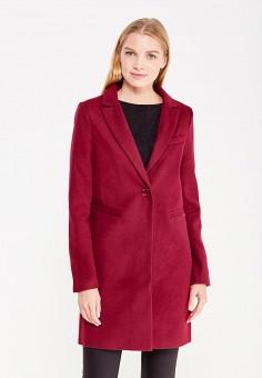Пальто, oodji, цвет: бордовый. Артикул: OO001EWWJH42.