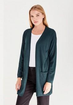 Кардиган, oodji, цвет: зеленый. Артикул: OO001EWWJI04. Одежда / Джемперы, свитеры и кардиганы / Кардиганы
