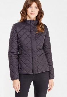 Куртка утепленная, oodji, цвет: черный. Артикул: OO001EWWOS66.