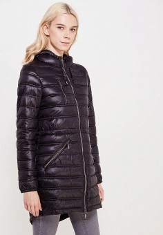 Куртка утепленная, oodji, цвет: черный. Артикул: OO001EWWRM49. Одежда / Верхняя одежда / Демисезонные куртки