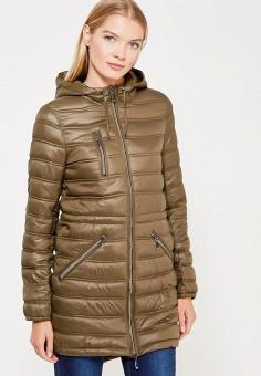 Куртка утепленная, oodji, цвет: хаки. Артикул: OO001EWWRM51. Одежда / Верхняя одежда / Демисезонные куртки