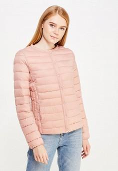 Куртка утепленная, oodji, цвет: розовый. Артикул: OO001EWWRM60. Одежда / Верхняя одежда / Демисезонные куртки