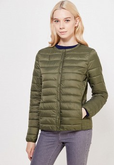Куртка утепленная, oodji, цвет: хаки. Артикул: OO001EWWRM62. Одежда / Верхняя одежда / Демисезонные куртки