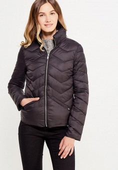 Куртка утепленная, oodji, цвет: черный. Артикул: OO001EWWUZ39.
