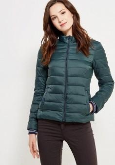 Куртка утепленная, oodji, цвет: зеленый. Артикул: OO001EWWZV23. Одежда / Верхняя одежда / Демисезонные куртки