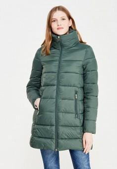 Куртка утепленная, oodji, цвет: зеленый. Артикул: OO001EWXJM56.
