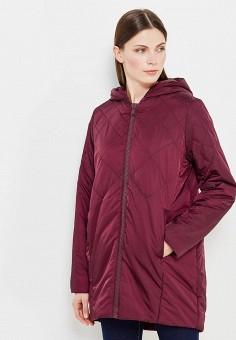 Куртка утепленная, oodji, цвет: бордовый. Артикул: OO001EWXOW77. Одежда / Верхняя одежда / Демисезонные куртки