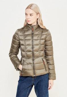 Куртка утепленная, oodji, цвет: хаки. Артикул: OO001EWXOX17. Одежда / Верхняя одежда / Демисезонные куртки